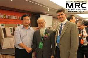 Prof. Gogotsi with Prof. Wang and Prof. Yoshimura