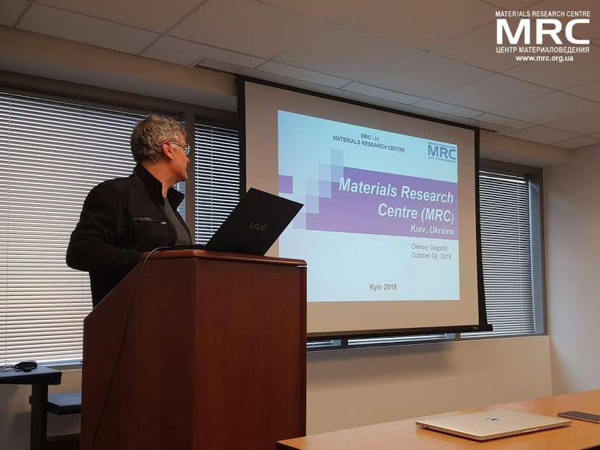 MRC director Oleksiy Gogotsi at the work meeting in Drexel
