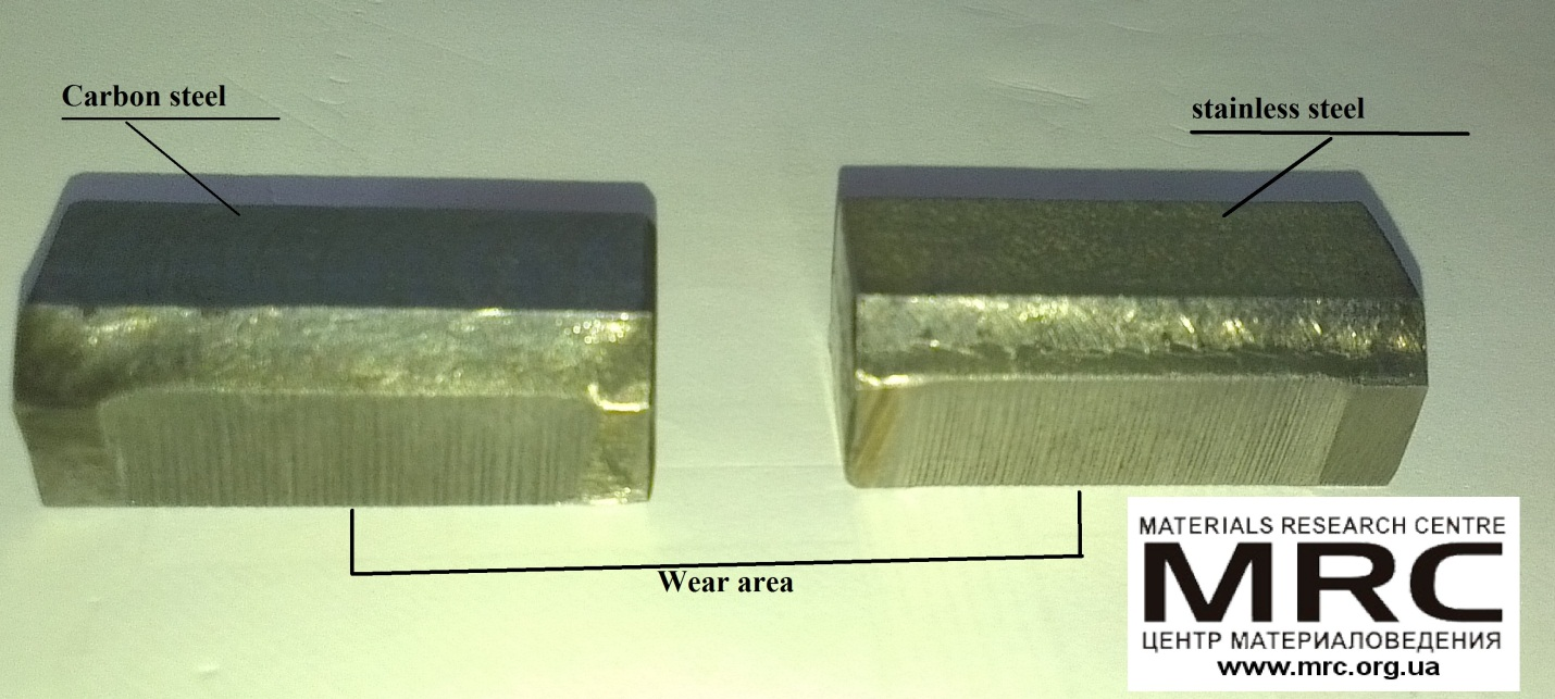 Abrasive wear of the material