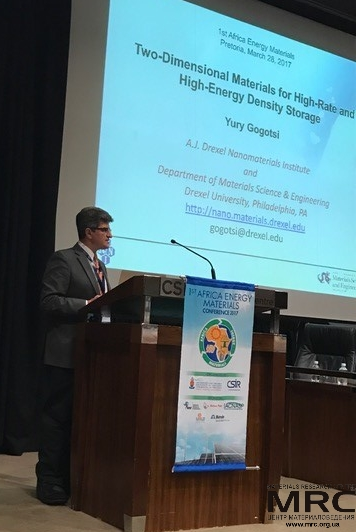 Professor Yury Gogotsi, Drexel University (USA) gives a plenary lecture on Two-Dimensional Materials for High Rate and High-energy Density Storage