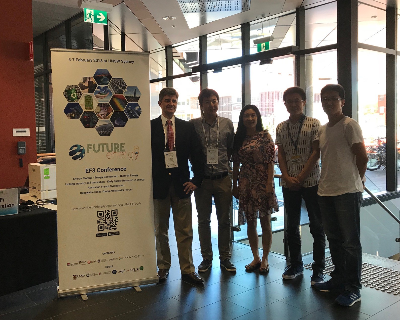 Professor Yury Gogotsi and his Australian collaborators - Professor Weiwei Lei from Deakin and his group, EF3 Conference 2018, Sidney, Australia