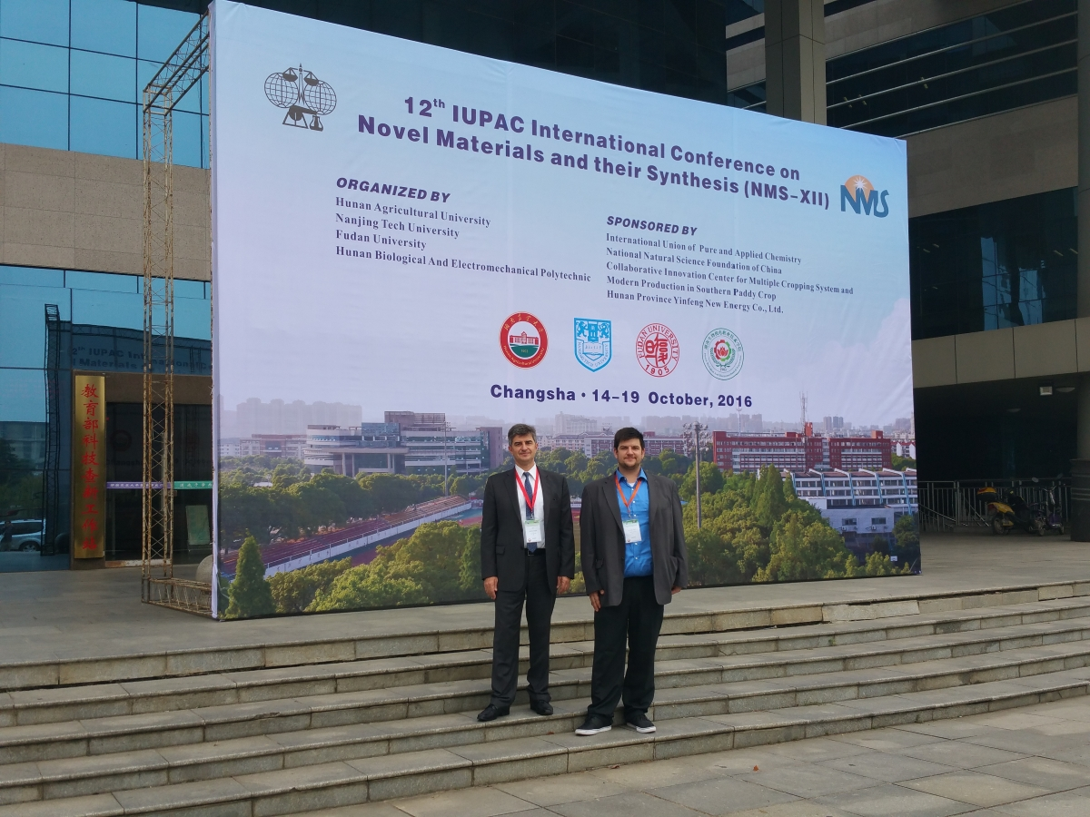 prof. Yury Gogotsi and Pavel Gogotsi on 12th IUPAC International Conference on Novel Materials and their Synthesis (NMS-XII)