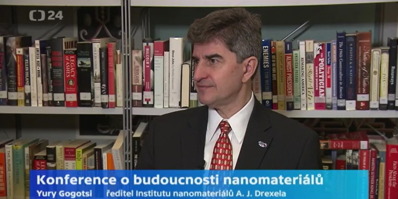 Professor Yury Gogotsi gives an interview on Advanced Nanotechnology and Chemistry conference for Czech TV Studio24