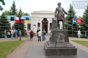 Participants of the Conference Humboldt Kolleg at the excursion to the Museum of Poltava Battle history, May 2013