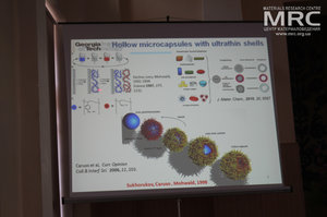 Synthetic and natural microcapsules, Plenary lecture gave prof. Dr. Vladimir V. Tsukruk, Georgia Institute of Technology, School of Materials Science and Engineering, Atlanta, Georgia, USA