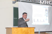 At the PM 2012 conference:  Director of Materials Research Centre Oleksiy G. Gogotsi presented a report «Abrasive Effect of  the Coke Particles Flow on the Steel»
