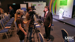 RUSNANOPRIZE 2015 laureate prof. Yury Gogotsi gives an interview to to journalists