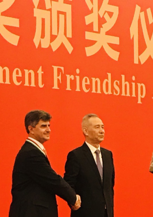 Yury Gogotsi recevide Friendship Award from Chinas Government