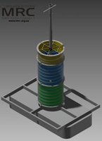 3d model of welding-assemly device for furnace frame with water cooled shell