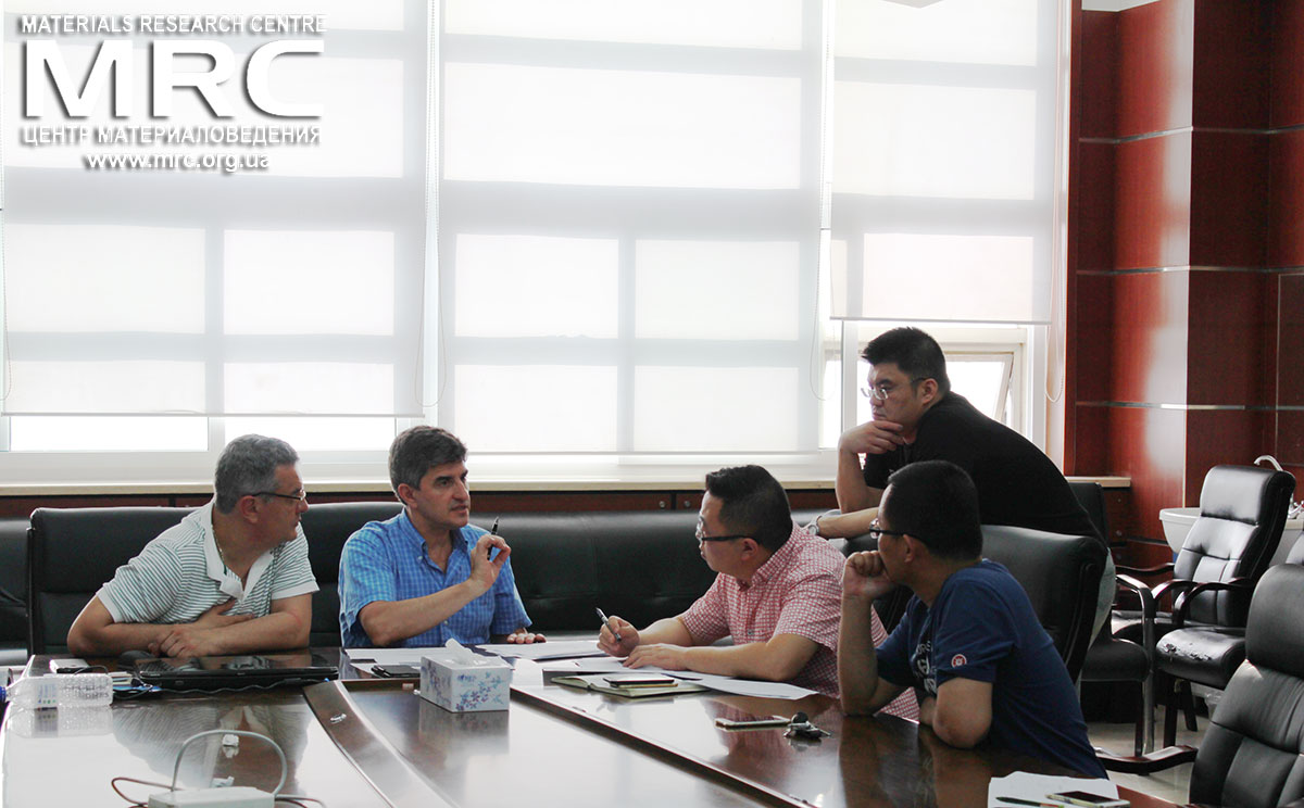 Technological discussion at the meeting with partners, Jilin University, June 16, 2016