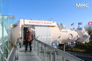 MRC director O.Gogotsi at the Cite de lEspace near space station Soyuz-Kristall, Toulouse,France