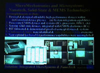 Informational slides on MEMS and bio-MEMS, prepared by the reporteur