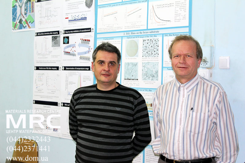 American professor of electrical engineering Sergey Edward Lyshevski with Oleksiy Gogotsi from Materials Research Centre