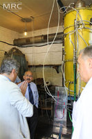Observing of high temperature furnace 2500 C: O. Gogotsi (MRC),  Upendra S. Rohatgi (Brookhaven National Laboratory), project manager M.Gubinskyi (NMetAU), August 2013
