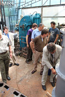 MRC Director O.Gogotsi presented scrubber to project participants and american partners at MRC work premises, Materials Research Centre, August 2013