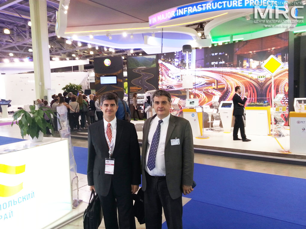 Professor Yury Gogotsi, Drexel University, USA, and Oleksiy Gogotsi, Materials Research Centre Director, Open Innovations Forum 2013,November 1st, Crocus Expo IEC, Moscow, Russia