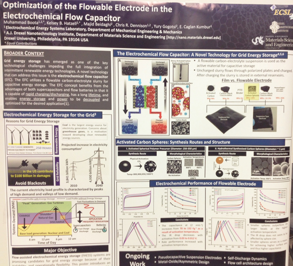 Flowable Electrode Capacitance in the Electrochemical Flow Capacitor poster