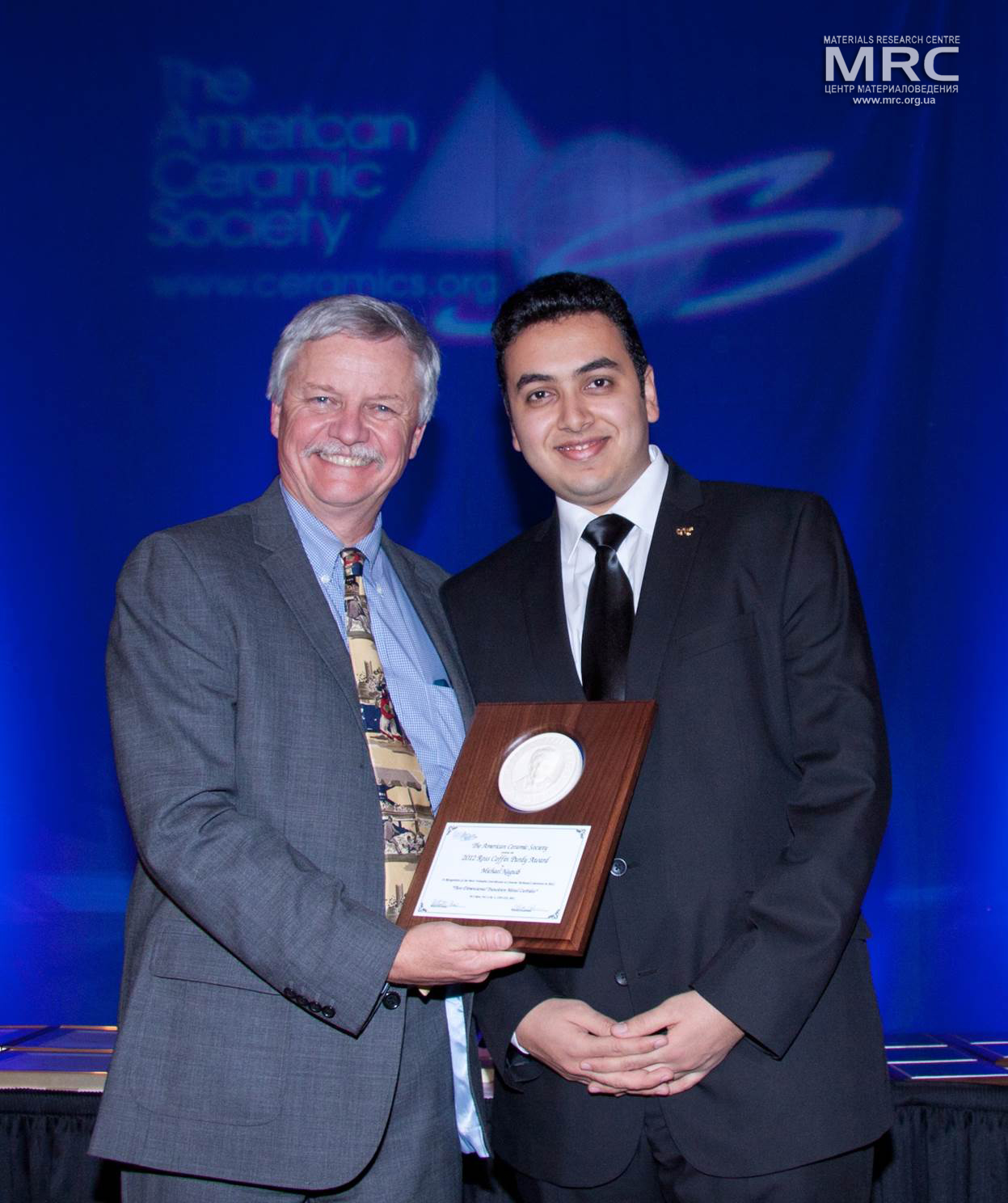 Michael Naguib, Drexel University,  received ACerS' Ross Coffin Purdy Award,  Materials Science and Technology Conference in Montréal, Canada, October 2013