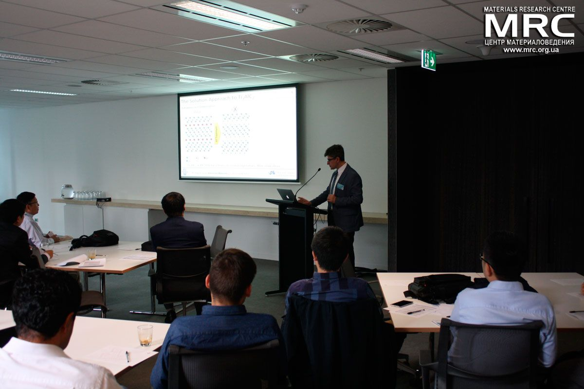 Prof. Yury Gogotsi is giving a lecture at Symposium on Two-dimensional Nanomaterials 2015, March, Melbourne, Australia