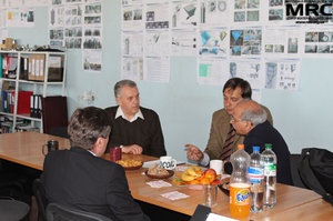 Work discussions on projects progress, at MRC office, April 19,2013