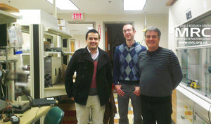 Majid Beidaghi,DNI,Post-Doctoral Researcher,EESLab Manager Chris Dennison, MRC director Oleksiy Gogotsi