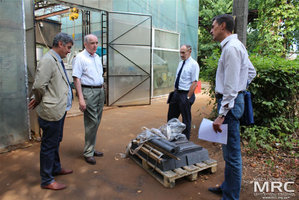 O. Gogotsi (Materials Research Centre),   project collaborator Joseph Doninger (Dontech Global Inc., USA), Vic Korsun (STCU Deputy Executive Director (USA), and expeditor at Materials Research Centre, August 2013