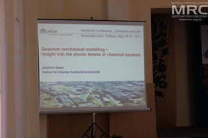 Friday, May 17, Morning session Physical and Theoretical Chemistry, Prof. Dr. Joachim Sauer, Humboldt-University of Berlin, Institute of Chemistry, Berlin, Germany, reports on Quantum mechanical modeling. Insight into the atomic details of chemical systems