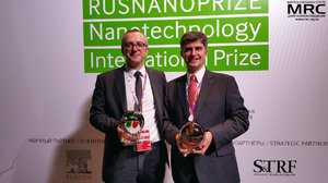 RUSNANOPRIZE 2015 laureates prof. Patrice Simon and prof. Yury Gogotsi  with Awards