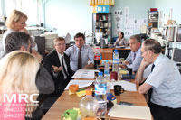 The meeting and technological discussions at MRC with  Materials Research Centre's co-workers on the