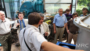 Project participants and american partners observed mill and scrubber manufactured by MRC due to the project