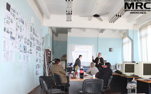 Working meeting at MRC office, April 17, 2013