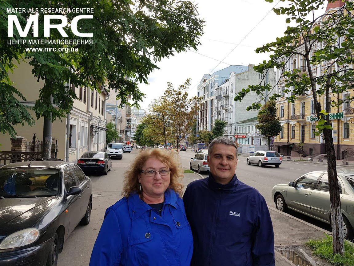 Professor Maria Omastova, Polymer Institute SAV, Bratislava, Slovakia, and Oleksiy Gogotsi, director of Materials Research Centre, Kiev, Ukraine,  July 2018